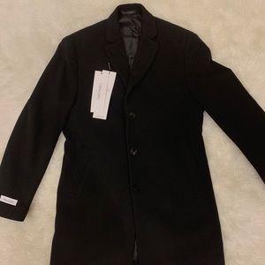 Calvin Klein M Slim Fit Wool Blend Overcoat Jacket